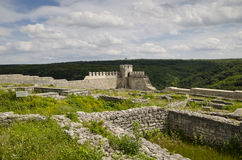 Ancient ruins of a medieval fortress close to the town of Shumen Stock Photo