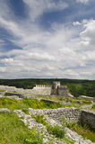 Ancient ruins of a medieval fortress close to the town of Shumen Stock Image