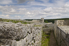 Ancient ruins of a medieval fortress close to the town of Shumen Royalty Free Stock Image