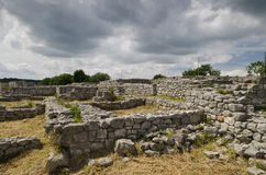 Ancient ruins of a medieval fortress close to the town of Shumen Royalty Free Stock Photography