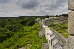 Ancient ruins of a medieval fortress close to the town of Shumen Royalty Free Stock Photo