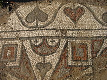 Ancient ruins of the Mediterranean, a mosaic of colored marbles Stock Photo