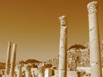 Ancient ruins of the Mediterranean, temples, colonnades Royalty Free Stock Images