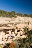 Ancient ruins, Mesa Verde, Colorado. Ancient ruind in Mesa Verde, Colorado, with tourist group Stock Photography