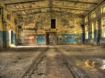 Ancient ruins of military base Stock Images