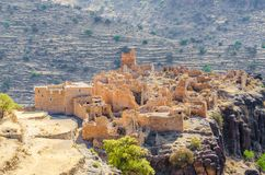 Ancient ruins of Moroccan kasbah in the mountains of the Anti Atlas, Morocco, North Africa Stock Photos