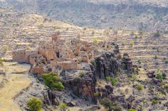 Ancient ruins of Moroccan kasbah in the mountains of the Anti Atlas, Morocco, North Africa Stock Images