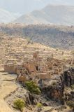 Ancient ruins of Moroccan kasbah in the mountains of the Anti Atlas, Morocco, North Africa Royalty Free Stock Photos