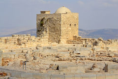 Ancient Ruins of Mount Gerizim. Ruins on Mount Gerizim of Samaritans in Israel territory Stock Images