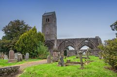 The Ancient Ruins of Muthill Old Church & Tower Scotland. Royalty Free Stock Image