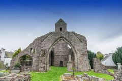The Ruins of Muthill Old Church & Tower of Jacobite History Scotland. The ancient ruins of Muthill Old Church & Tower. The church dates from the 12th Century Stock Image