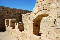 Ancient ruins of Nabataean city Memphis, Israel Royalty Free Stock Image