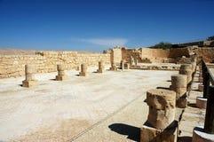 Ancient ruins of Nabataean city Memphis, Israel Royalty Free Stock Photography
