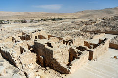 Ancient ruins of Nabataean city Memphis, Israel Stock Photos