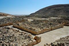 Ancient ruins of Nabataean city Memphis, Israel Stock Images