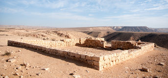 Ancient ruins in Negev Desert Stock Photography