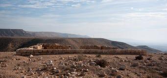 Ancient ruins in Negev Desert Stock Image