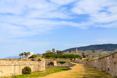 Ancient ruins of Neratzia Castle in Kos. Stock Photos