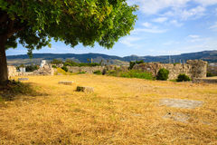 Ancient ruins of Neratzia Castle in Kos. Stock Photography