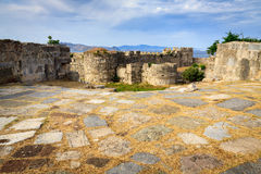 Ancient ruins of Neratzia Castle in Kos. Royalty Free Stock Images