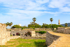 Ancient ruins of Neratzia Castle in Kos. Royalty Free Stock Photography