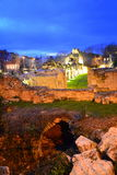 Ancient ruins night scene Royalty Free Stock Photography
