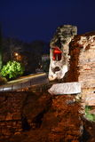 Ancient ruins night scene Stock Images