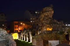 Ancient ruins night scene Royalty Free Stock Photos