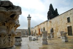 Ancient Ruins Of Old Jerusalem Stock Images