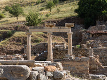 Ancient ruins of old Greek city of Ephesus Royalty Free Stock Photography