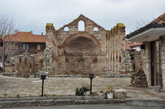 Ancient ruins of the oldest church in Bulgaria Stock Images