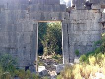 Ancient ruins of Olimpos Stock Images