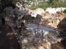 Ancient ruins of Olimpos Royalty Free Stock Images