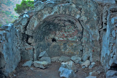 The ancient ruins. Of Olympos Royalty Free Stock Photos