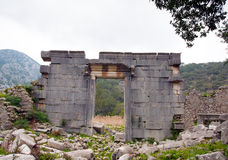The Ancient Ruins of Olympos Royalty Free Stock Photos