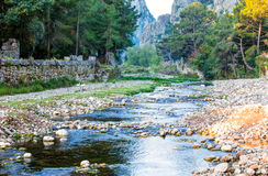 The Ancient Ruins of Olympos, Turkey Royalty Free Stock Images