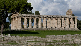 Ancient ruins of paestum Stock Photography