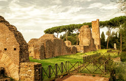 Ancient ruins at the Palatine Hill in Rome Stock Photography