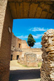 Ancient Ruins in palatine hill at Rome, Italy. Palatine hill at Rome, Italy Royalty Free Stock Photos