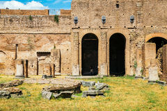 Ancient Ruins in palatine hill at Rome, Italy. Palatine hill at Rome, Italy Stock Images