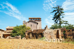 Ancient Ruins in palatine hill at Rome, Italy. Palatine hill at Rome, Italy Royalty Free Stock Image
