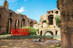 Ancient Ruins in palatine hill in Rome, Italy Royalty Free Stock Photos