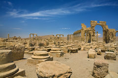 The ancient ruins of Palmyra Stock Photos
