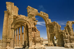 The ancient ruins of Palmyra Stock Images