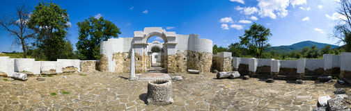 Ancient ruins panorama Royalty Free Stock Image