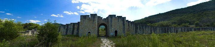 Ancient ruins panorama Royalty Free Stock Photos