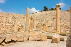 Ancient ruins of Pella Jordan Stock Photos