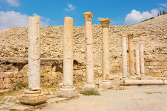Ancient ruins of Pella Jordan Stock Photography