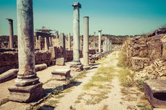 Ancient ruins of Perge. Royalty Free Stock Images