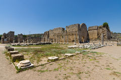 Ancient ruins of Perge. Stock Photo